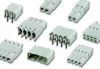 Kolíkové konektory pro LED s bílým izolátorem