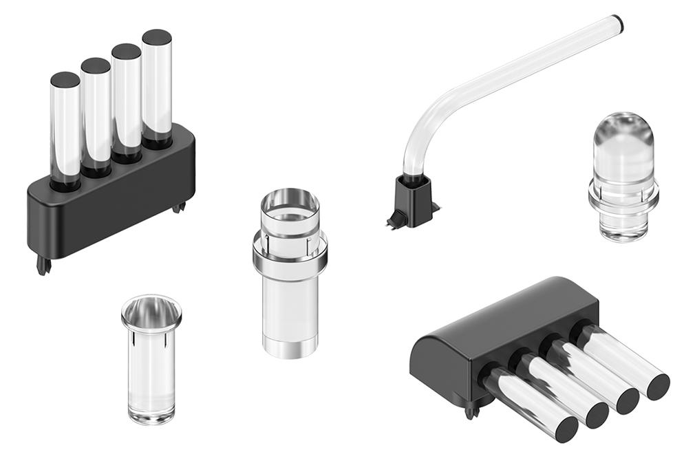 Nové světlovody a a doplňky výrobků v oblasti optoelektroniky